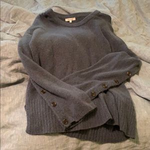 Madewel button sleeve sweater